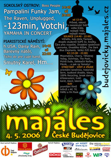 Plakát Budějovického majálesu 2006