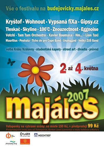 Plakát Budějovického majálesu 2007