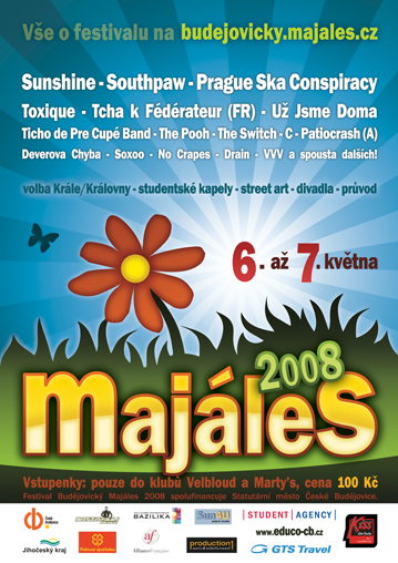 Plakát Budějovického majálesu 2008